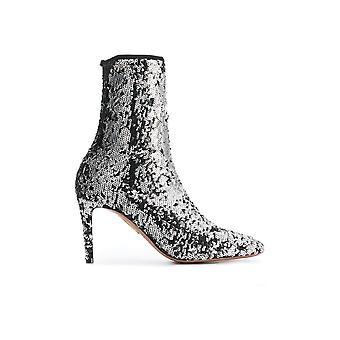 Aquazzura Ctemidb0pai Women's Silver Glitter Ankle Boots