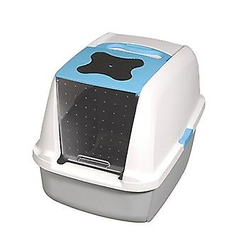 Catit Hooded Cat Litter Box - Blue