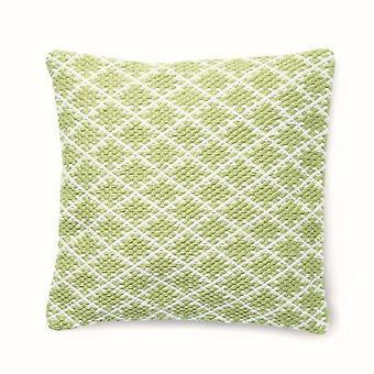 Hug Rug Reversible Woven Trellis Cushion In Green