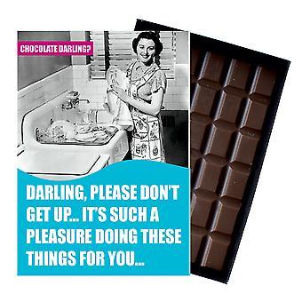 彼氏の夫の男ボックス化チョコレートグリーティングカードプレゼントCDL106のための面白い誕生日の贈り物