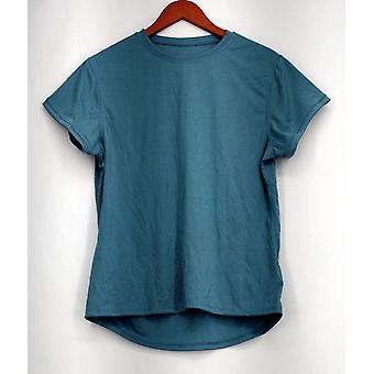 Zorrel Plus Top XXL Short Sleeve w / Body Heat Regulation Blue Womens #2