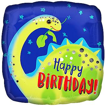 Anagram Happy Birthday! Brontosaurus Square Foil Balloon