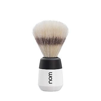 Nom Max Natural Bristle Shaving Brush - White