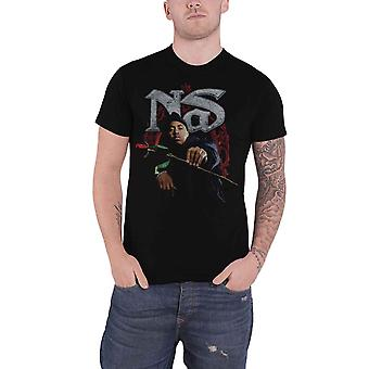 Nas T Shirt Hip Hop is dead Red Rose Logo new Official Mens Black