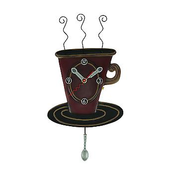 Allen Designs Cozy Cafe Pendulum Wall Clock