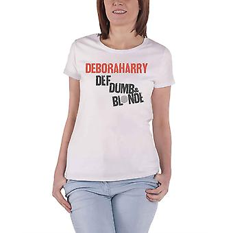Debbie Harry T Shirt Def Dumb & Blonde new Official Womens Skinny Fit White