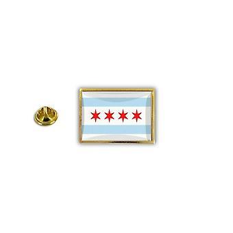 Pine PineS rinta nappi PIN epoksi metalli perhonen harja lippu Chicago