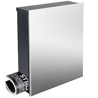 Concevoir des boîtes aux lettres en acier inoxydable avec journal commerce corps gris anthracite (RAL 7016) MOCAVI boîte 111VA mur lettre case 12 litres