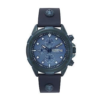 Versus Versace VSPLP0319 Men's Arrondissement Blue Dial Wristwatch