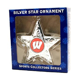 Wisconsin Badgers NCAA Sports Collectors Series Silver Star Ornament
