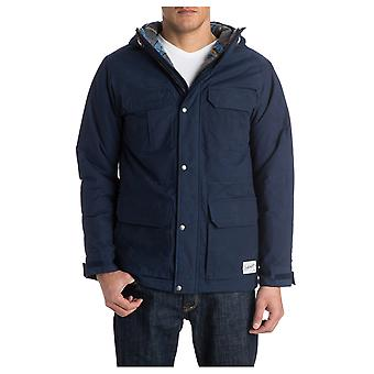 Quiksilver Long Bay Parka Jacket in Medieval Blue