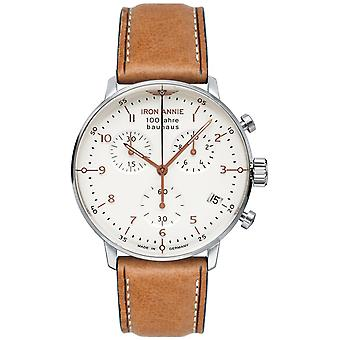 Iron Annie 100 Jahre Bauhaus Swiss Quartz Analog Man Watch with Cowskin Bracelet 5096-4
