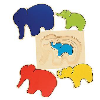 Lagen puzzle Elefant, 5-tlg.