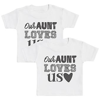 Our Aunt Loves Us Baby T-Shirt Twin Set