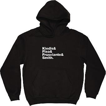 Red Hot Chilli Peppers Line-Up Black Hooded-Top