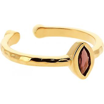 Kira Dor Ring - Red Grenat