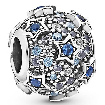 Charm Pandora 798467C01 - Pave canvases On Silver Leves