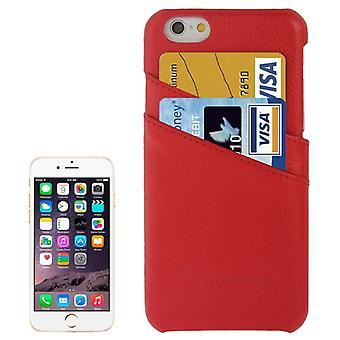 Para iPhone 6S PLUS,6 PLUS Moda Vermelho Genuíno Caixa de Couro, Capa traseira shell
