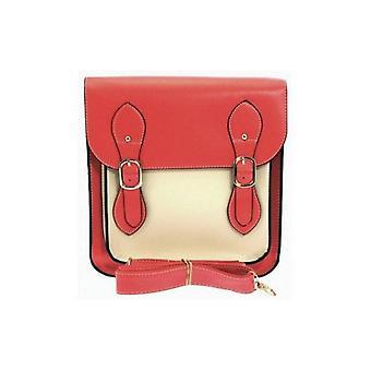 Bolsa de satchel de doble hebilla en sandión