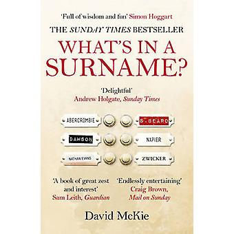 Whats in a Surname by David McKie