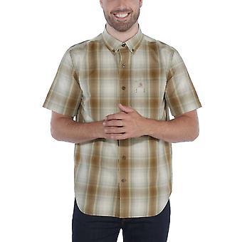 Carhartt Mens Essential Slim Fit Kortärmad Rutig skjorta