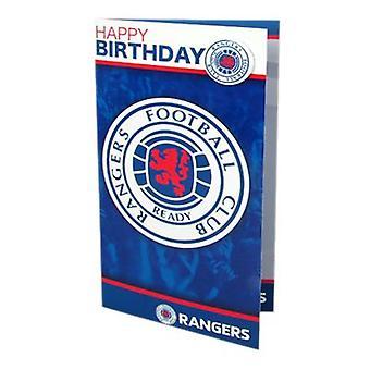 Rangers Birthday Card & Badge
