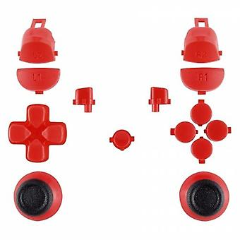 Button set for ps4 pro controllers sony jdm-040 mod set trigger, action, d-pad & option / share button set - red | zedlabz