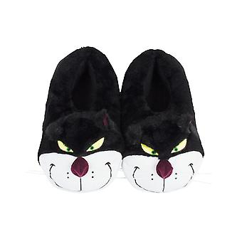 Disney Cinderella Lucifer The Cat Plush Women's Novelty 3D Slippers
