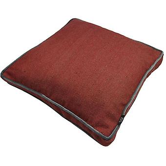 Mcalister textiles deluxe herringbone red large box cushion