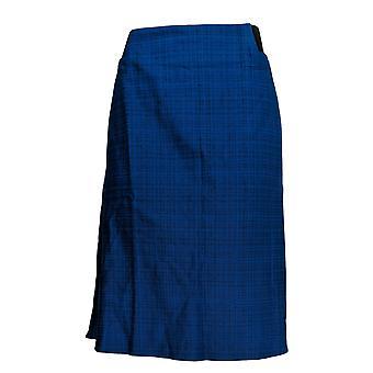 Kelly by Clinton Kelly Plus Skirt A-Line w/ Elastic Detail Blue A347968