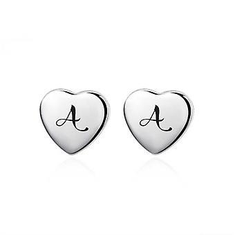 Initial heart earrings