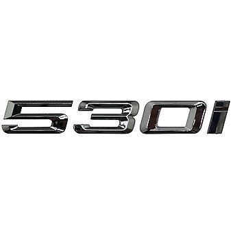 Silver Chrome BMW 530i Car Model Rear Boot Number Letter Sticker Decal Badge Emblem For 5 Series E93 E60 E61 F10 F11 F07 F18 G30 G31 G38