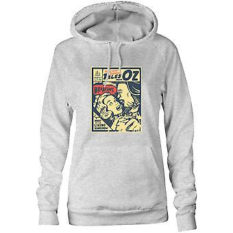 Camisetas femininas Capuz Hoodie- Ação! Terror! Suspense! Contos de Braaains