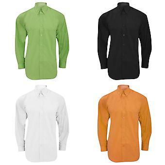 Kustom Kit Mens Workforce Long Sleeve Shirt