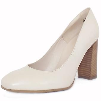 Peter Kaiser Sandy Women's Trendy Block Heel Court Shoes In Cream