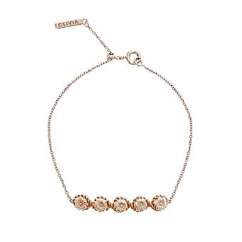 Olivia Burton Watches Obj16fsb11 Floral Charm Chain Bracelet Rose Gold