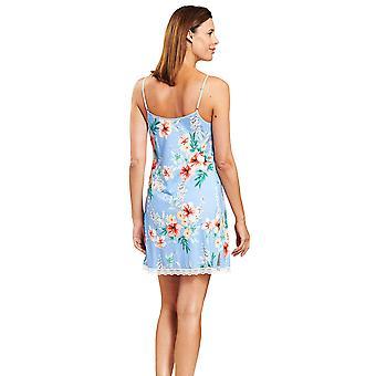 Rösch 1203101-16070 Women's New Romance Blue Hibiskus Floral Nightdress