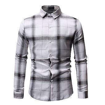 Allthemen Men-apos;s Plaid Printed Shirt Slim Fit T-shirt