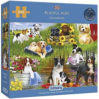 Gibsons 500 Piece Playful Pups Jigsaw Puzzle