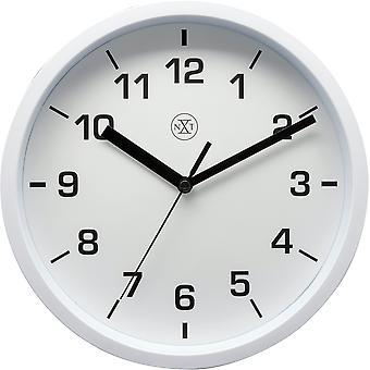 nXt - Wall clock - 20cm Ø - Plastic - White - 'Easy Small'