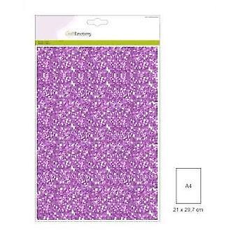 CraftEmotions glitter paper 5 Sh lilac +/- 29x21cm 120gr