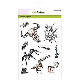 CraftEmotions clearstamp RusticArt A5 - Weird Science 1