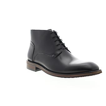 Zanzara Malta  Mens Black Leather Lace Up Chukkas Boots Shoes