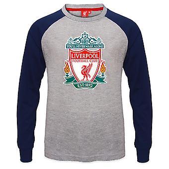 ליברפול FC בנים חולצת טריקו שרוול ארוך קרסט רגלן ילדים רשמית כדורגל מתנה
