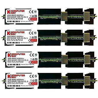 Komputerbay 16GB (4x 4GB) DDR2 PC2-6400F 800MHz ECC المخزنة بالكامل FB-DIMM (240 PIN) 16GB مع ماك الصلبان ذاكرة الوصول العشوائي ذكريات أبل ماك برو 2008 3.1 (2.8 3.0 3.2) (DDR2 800M PC2-6400 ECC FBDIMM)