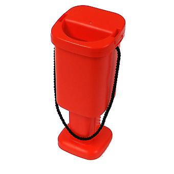 10 neliön hyväntekeväisyyteen rahaa keräyslaatikoihin - punainen