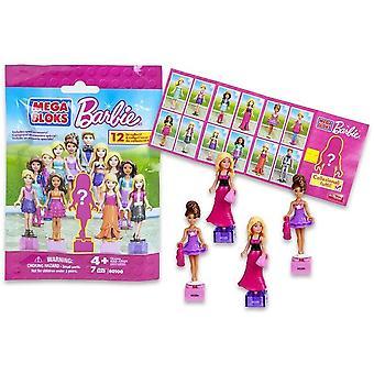 3-Pack Mega Bloks Barbie ábra baba baba kiegészítőkkel blind táskák