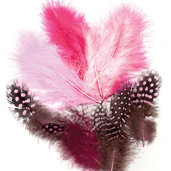 Feathers, Marabou & Guinea Fowl, Assorted Mix, Girl