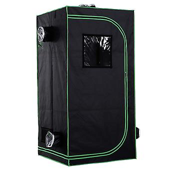 Outsunny Mylar Hydroponic Grow Tent with Adjustable Vents and Floor Tray for Indoor Plant Growing  80 x 80 x 160cm