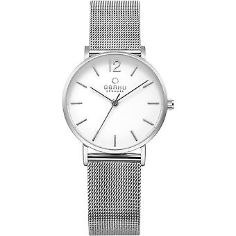 Obaku Mark Lille Steel Women's White Dial Wristwatch V197LXCWMC